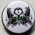 VEGAN COLLAGE pinback button badge 1.25""