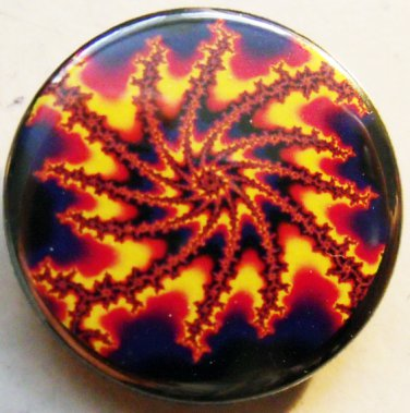 FRACTAL ART #2 pinback button badge 1.25""