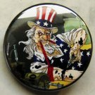 UNCLE SAM SLAMS OIL pinback button badge 1.25""