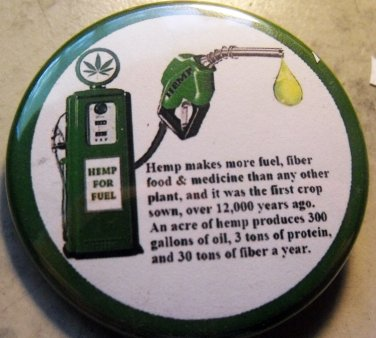 HEMP FACTS pinback button badge 1.75""