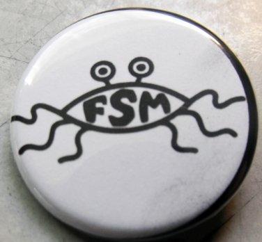 "FLYING SPAGHETTI MONSTER pinback button badge 1.25"""