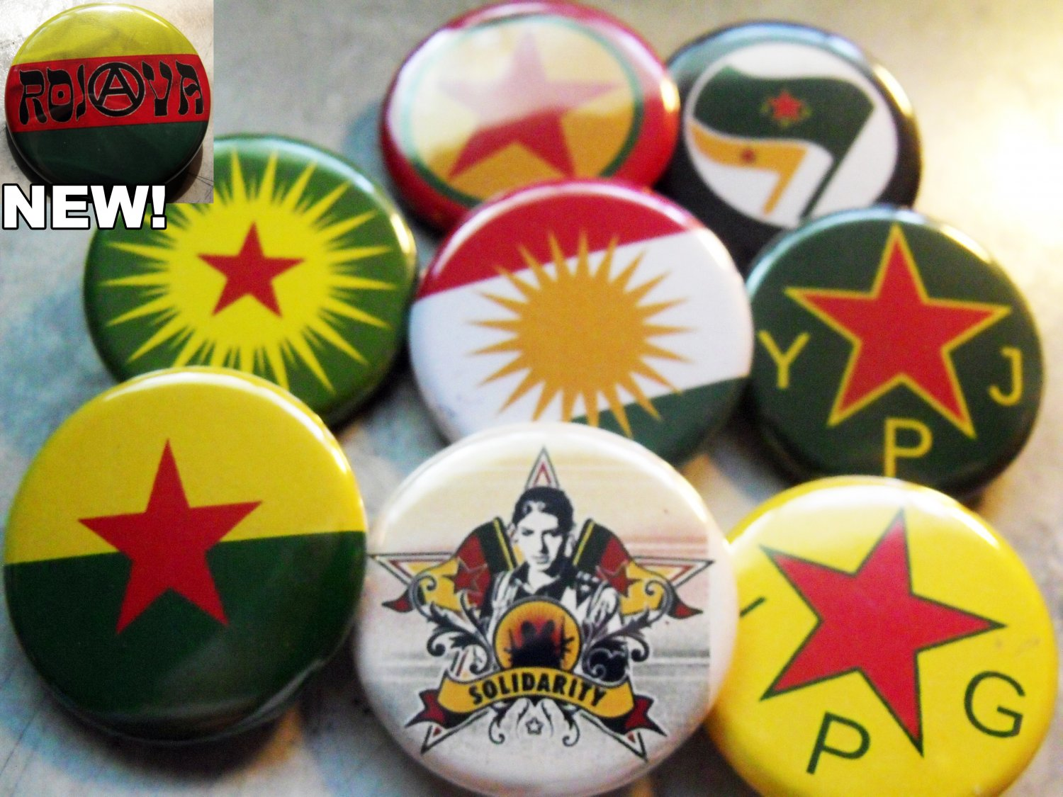 9 KURDISH RESISTANCE pinback buttons badges 1.25""