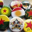 "9 KURDISH RESISTANCE pinback buttons badges 1.25"""