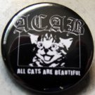 ACAB - ALL CATS ARE BEAUTIFUL pinback button badge 1.25""