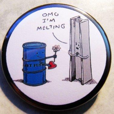 """JET FUEL VALENTINE pinback button badge 1.25"""""""
