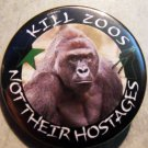 """HARAMBE - KILL ZOOS NOT THEIR HOSTAGES pinback button badge 1.25"""""""