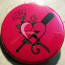 PINK BLOC - BATS AND ROSES pinback button badge 1.25""
