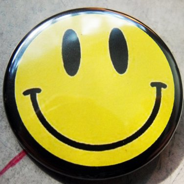 CLASSIC SMILEY pinback button badge 1.25""
