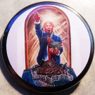 TRUMP SPEWING SHIT  pinback button badge 1.25""