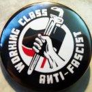 "WORKING CLASS ANTI-FASCIST pinback button badge 1.25"""