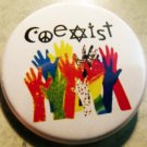 COEXIST pinback button badge 1.25""