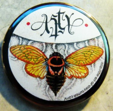 """The Art of Asty #1  pinback button badge 1.25"""""""