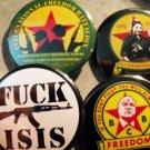 4 KURDISH RESISTANCE PINBACK BUTTONS #3