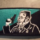 """MAX STIRNER WITH A GUN EGOIST FLAG embroidered iron-on patch 3.5""""x2"""" PLUS 2 FREE PINS"""