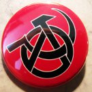 """ANARCHOCOMMIE - H&S pinback button badge 1.25"""""""