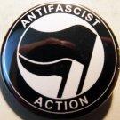 "ANTI-FASCIST ACTION #3 BLACK/BLACK pinback button badge 1.25"""