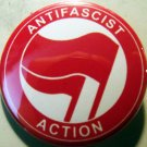 """ANTI-FASCIST ACTION #4 RED/RED pinback button badge 1.25"""""""