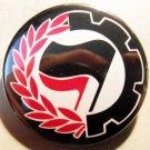 "ANTIFASCIST WORKER EMBLEM pinback button badge 1.25"""