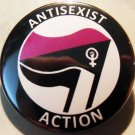 ANTISEXIST ACTION -english pinback button badge 1.25""