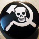 PIRATE COMMIE. pinback button badge 1.25""