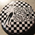 "RUDE GIRL pinback button badge 1.25"""