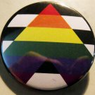 STRAIGHT ALLY pinback button badge 1.25""