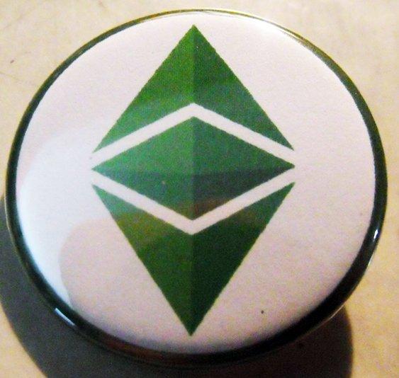 """ETHEREUM CLASSIC pinback button badge 1.75"""""""