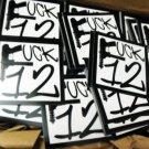 "300 FUCK 12 2.5"" x 2.5"" stickers"