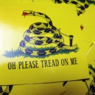 "100 OH PLeASE TReAD ON ME 2.5"" x 2.5"" stickers"
