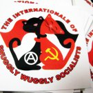 "100 THE INTERNATIoNALE oF SNUGGLY WUGGLY SoCIALISTS 2.5"" x 2.5"" stickers"