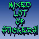 "25 MIXED LOT of STICKERS 2.5"" x 2.5""  stickers"