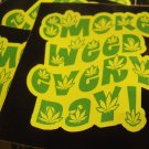 """100 SMoKE WEED EVERY DAY!  3"""" x 2.5"""" stickers"""