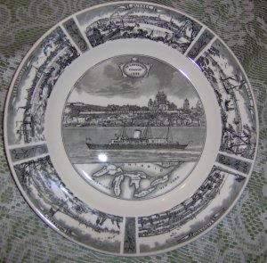 St Lawrence Seaway Commemorative Plate Queen Elizabeth 1959 2 R 59