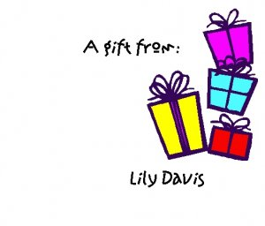 """""""A Gift From..."""" Stickers--Gift Box Design"""