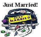 Just Married Car Design Return Address Labels