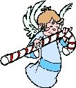 Angel with Candy Cane Return Address Labels