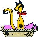Cat in Basket Return Address Labels