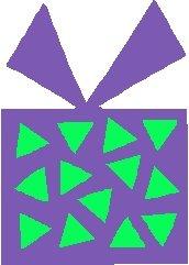 Purple Gift Stickers
