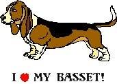 I Love My Basset! Return Address Labels