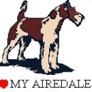 I Love My Airedale! Return Address Labels