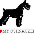 I Love My Schnauzer! Return Address Labels