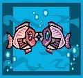 Kissing Fishes Return Address Labels