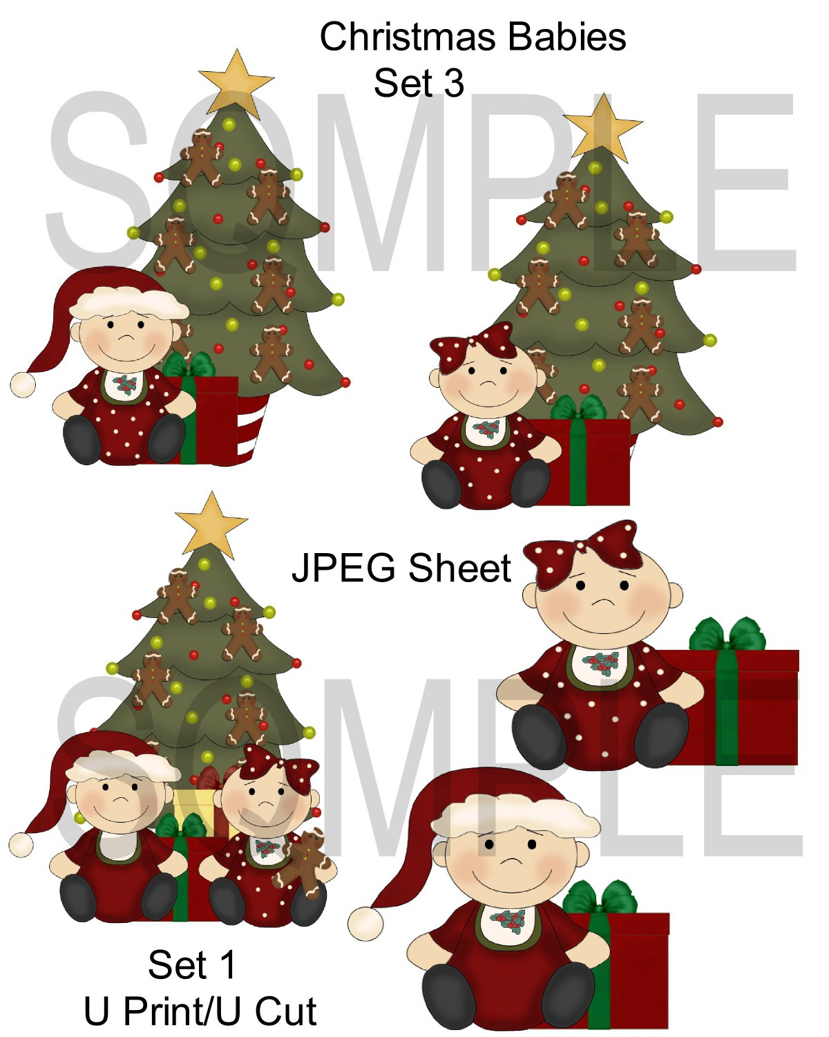 Christmas Babies 3-Emailed as JPEG File-Commercial and Personal Use