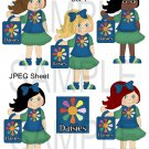 Daisie Scouts 1-Emailed as JPEG File-Commercial and Personal Use