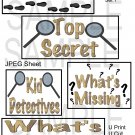 Detective Titles 1-Emailed as JPEG File-Commercial and Personal Use