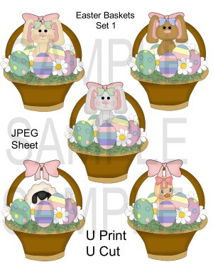 Easter Baskets 1-Emailed as JPEG File-Commercial and Personal Use