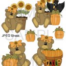 Fall Pumpkin Bear 2-Emailed as JPEG File-Commercial and Personal Use