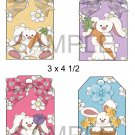 Easter Bunnies 1-Hang Tags-Emailed as JPEG File-Commercial and Personal Use