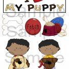 I Love My Puppy Boy 2 - Emailed as JPEG File-Commercial and Personal Use