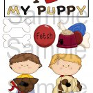 I Love My Puppy Boy - Emailed as JPEG File-Commercial and Personal Use